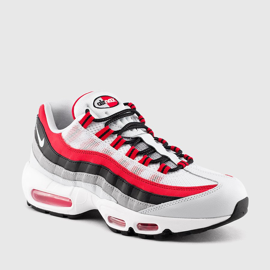 new style c232c 1b0c9 ... usa mfn sneaker steal alert nike air max 95 white university red wolf  grey 698fc c6125