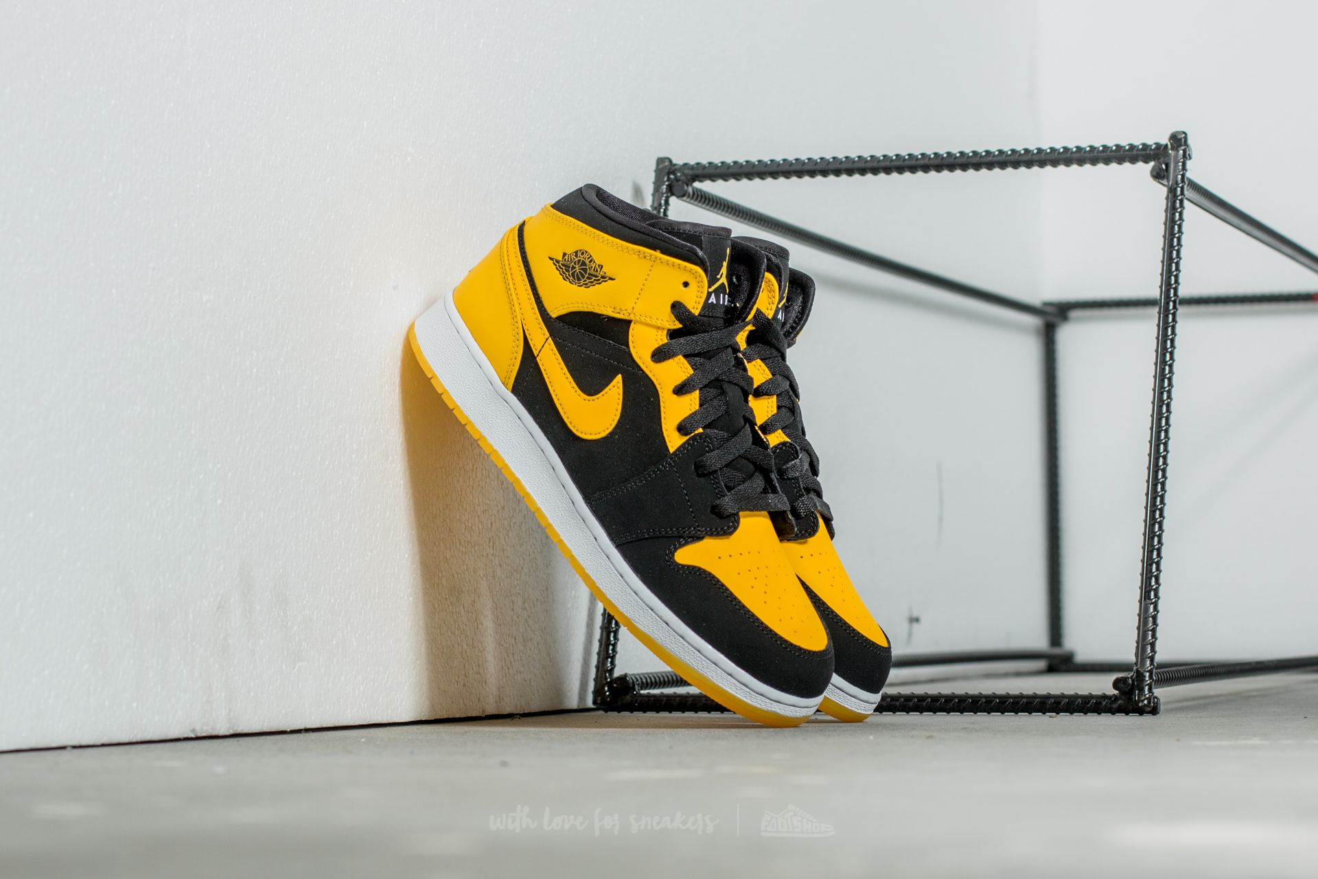 uk availability be3bd 685f5 ... promo code for air jordan 1 mid bg black varsity maize 5d9ed bab85