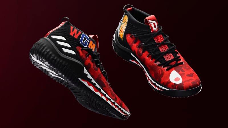 buy popular d7e56 e685f adidas-dame-4-bape-red.jpg