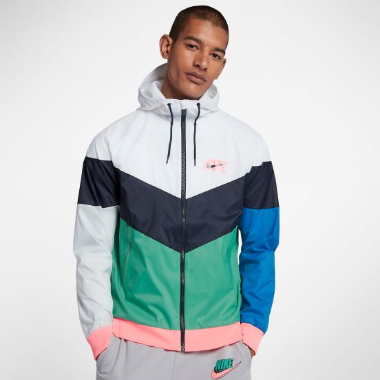 c27106e0eb Apparel Release Alert – Nike Windrunner (White Obsidian Green Noise).  Clothing ...