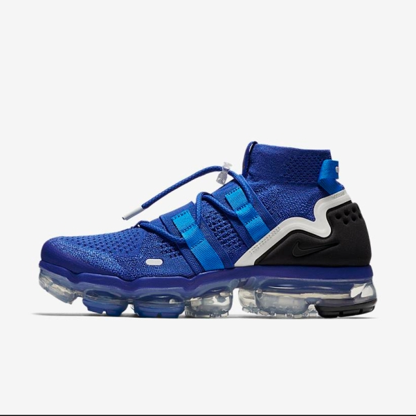5cdabeada886f Sneaker Release Alert – Nike Air VaporMax Flyknit Utility (Blue)