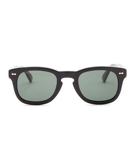 02fe65ed64123 Eyewear Deal Alert – Gucci 49mm Square Sunglasses (Black Gold ...