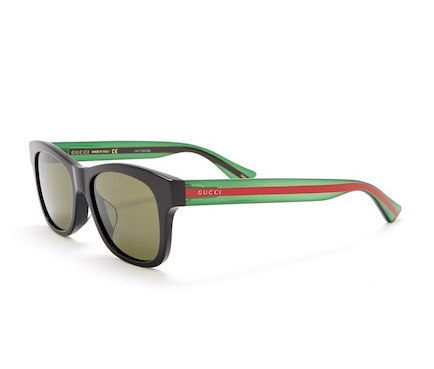 a1e68e30809f0 Eyewear Deal Alert – Gucci 53mm Rectangle Sunglasses (Black Green ...